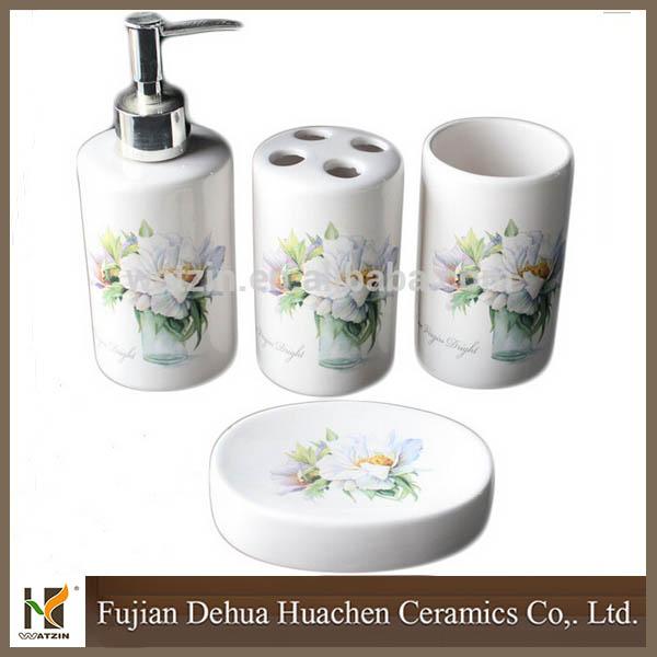 4pc plastic elegant soap dish dispenser shampoo bottle for Beli kitchen set