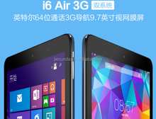 2015 Cube 9.7 inch IPS Retina I6 Air 3G Support Phone call tablet pc Wind8.1+Android 4.4 tablet quad cores 2G