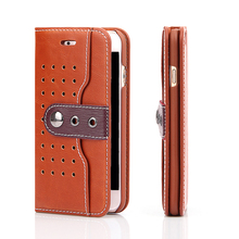 Fashion man Genuine leather cell phone case for iphone 7&7 plus mobile accessories with card slots alibaba china express