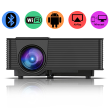 cheap 2000 lm LCD portable business home wifi projector and digital beamer