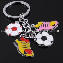 Hot selling 3D Mini Football soccer Shoe Style Key Rings Running Shoe Key Chains