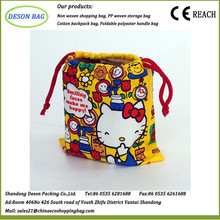 Custom made high quality drawstring shoe bag from china