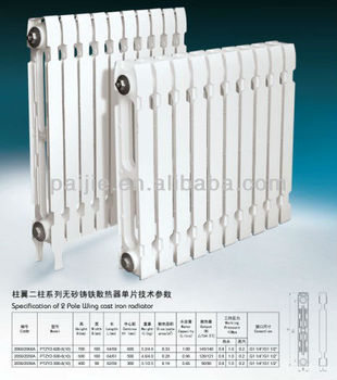 2 pole wing cast iron radiators