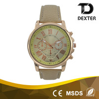 Best selling products womens leather strap trend design quartz watch