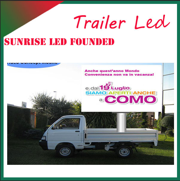 Ultra-low comsumption outdoor semi-outdoor truck display led large screen display for video music picture movie