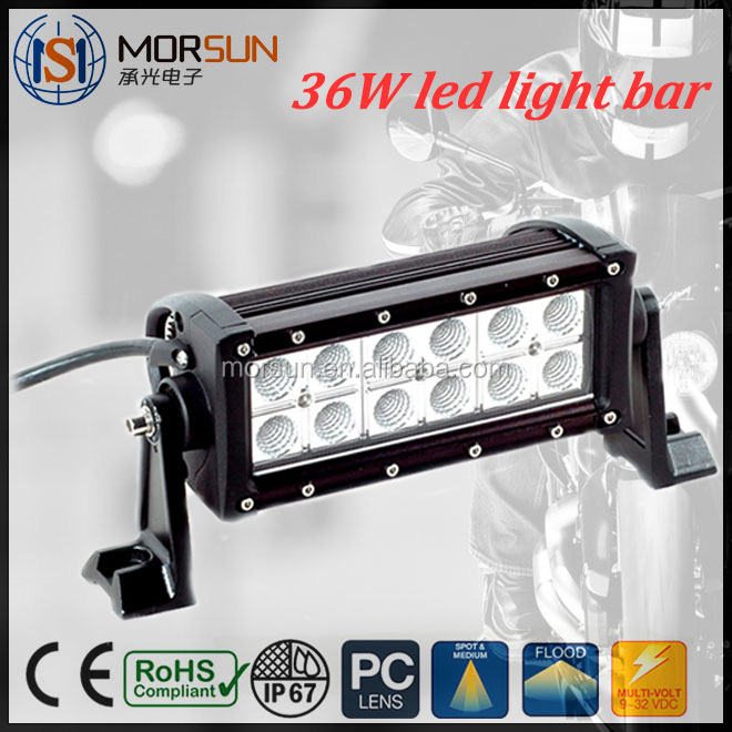 7.5 inch 36w off road light, 36w Epistar led bar lamp, offroad light bar ATV vehicles 4X4 accessory