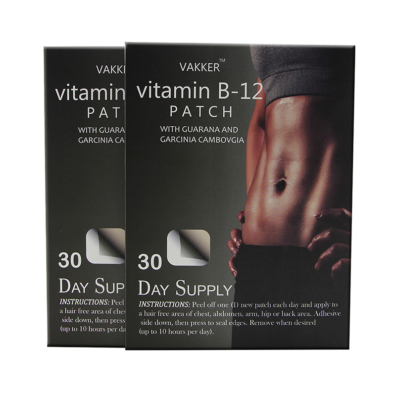 Hot product beautiful body care gym exercise slim vitamin weight loss patch with vitamin b1 b6 b12 ingredients