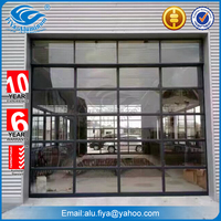 Cheap FiYa aluminium glass garage doors for sale