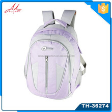 hot selling soft 600D/PU fabric outdoor pink student school bags sports backpack for pupils