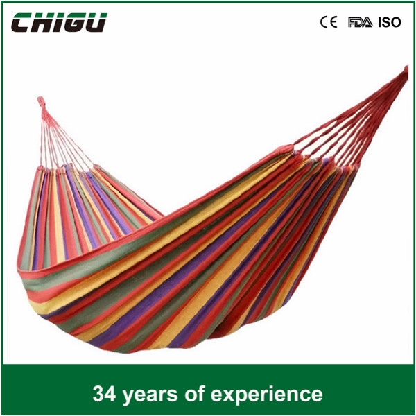 Double Canvas portable hammock With Stand For Family