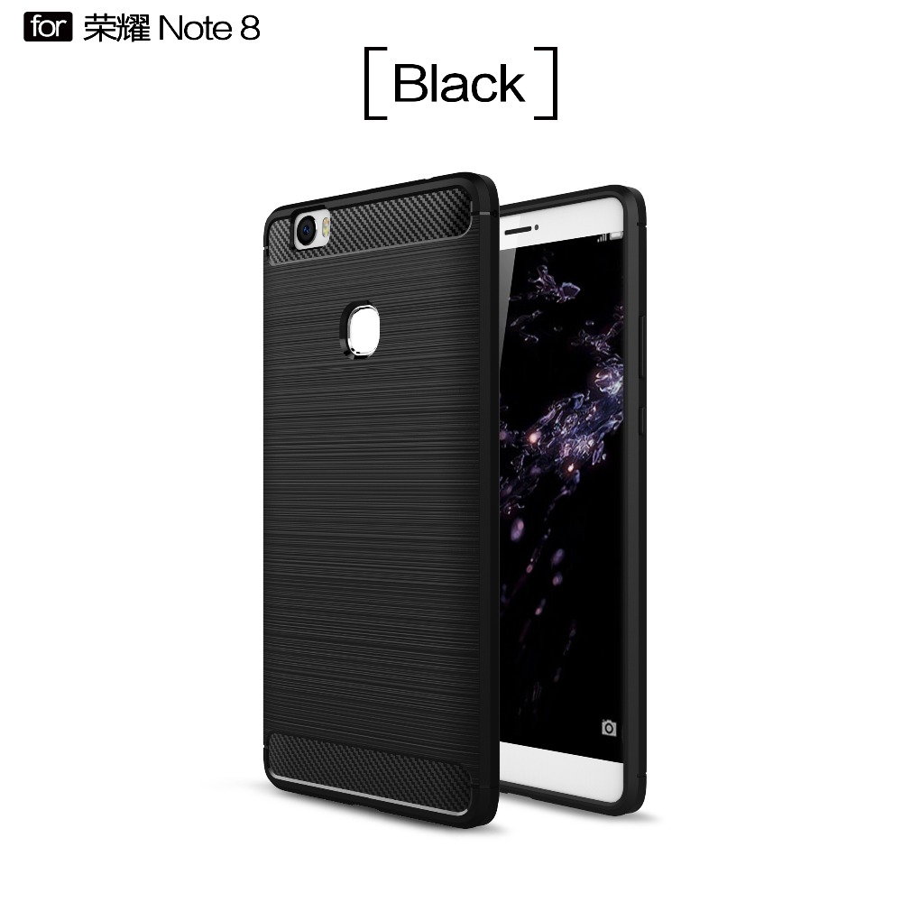 Shockproof Full cover case for Huawei honor note 8 Slim TPU carbon fiber back case for honor note 8 MT-6484