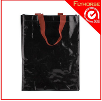 recyclable tote foldable laminated pp woven shopping bag