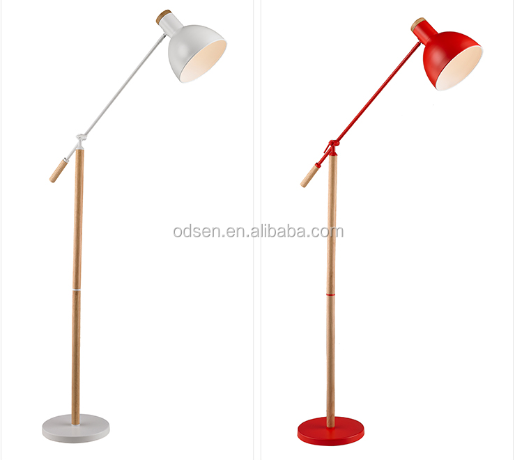 2016 wooden home goods cheap modern floor lamps