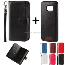 separable flip wallet leather phone case cover with lanyard for ZTE grand x2 3 plus axon7 nubia z 9 11 blade s v 6 a460