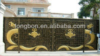 2015 top selling new design sliding wrought iron gate