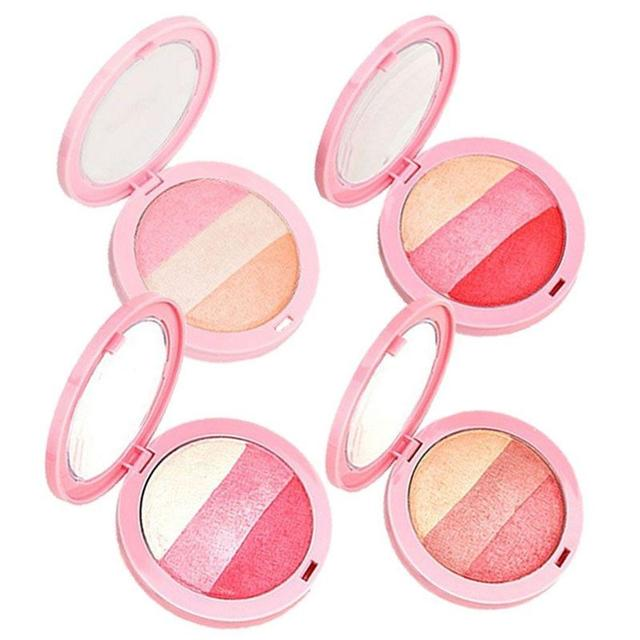 3 Colors Baked Blush Makeup Cosmetic Natural Blusher Powder Palette Charming Cheek Color Make Up Face