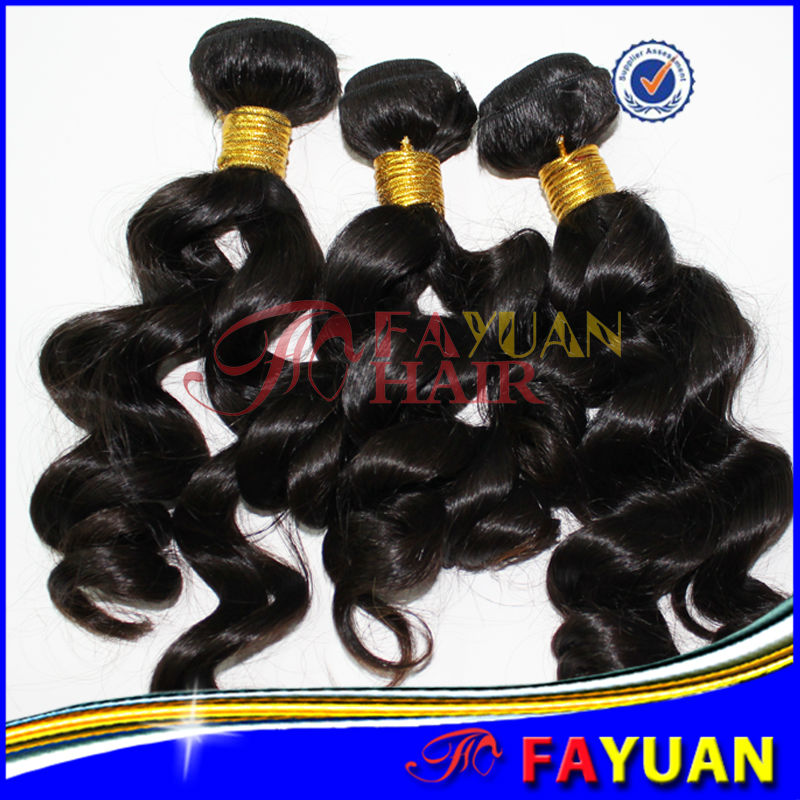 Fayuan 5A grade Best selling factory price loose wave 100% virgin hair unprocessed hair replacement