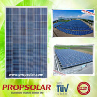 Propsolar TUV standard 250 watt 30v solar cells panel 250w inverter plus pv module