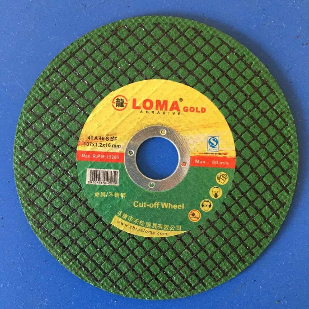 abrasive cut off wheel 105 and polishing disk
