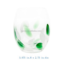 Unique Design Decorative Green Glass Plates and Bowl