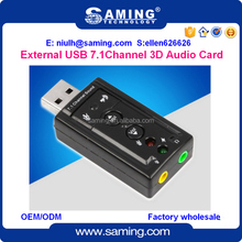 Drive free USB Sound Card 7.1 Channel 3D external Audio Card Mic Adapter 3.5mm Jack Stereo Headset