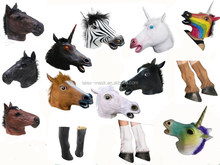 Latex Animal Mask Realistic,Wholesale Masquerade Animal Head Mask,Funny Rubber Unicorn Mask