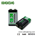 KingKong 9v size 6f22 dry battery zinc carbon battery