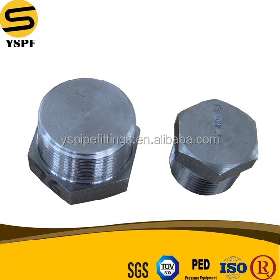 Plug and socket forged fittings duplex stainless steel pipe price Forged Carbon Steel butt plug Pipe Fitting Round Plug