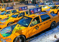 Taxi top advertising led display/taxi roof top advertising signs