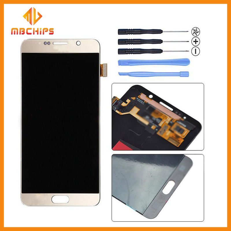 2016 New LCD For Samsung Galaxy Note 5 N920 LCD Screen Display with Digitizer Touch Panel Replacement