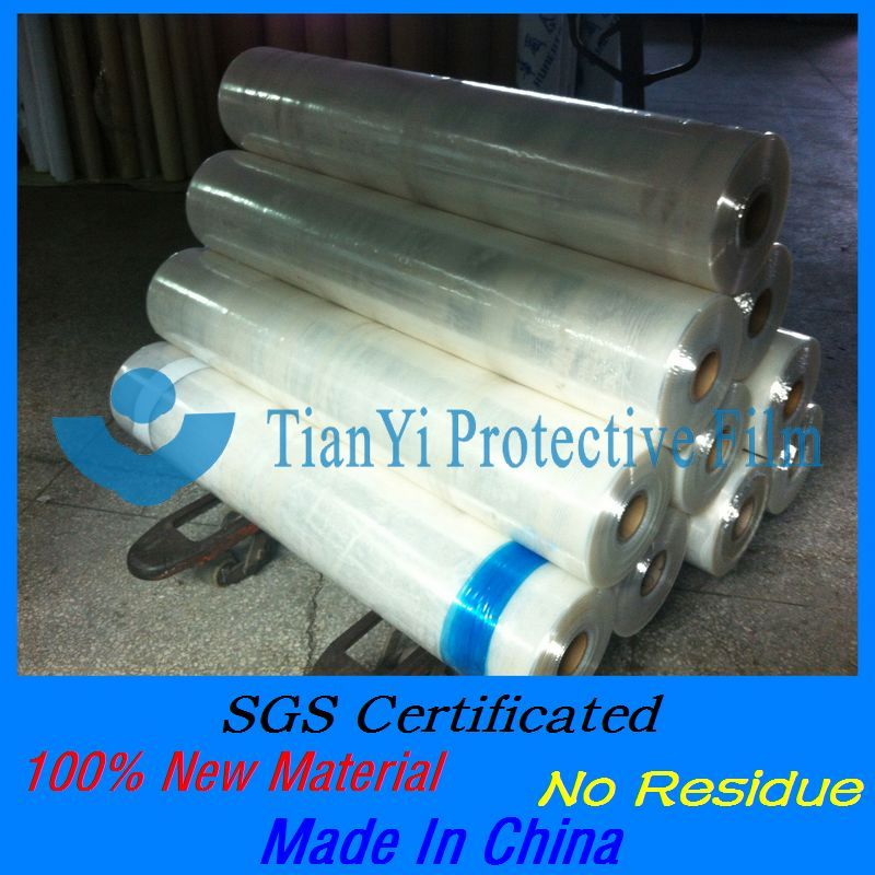 Stable quality paintable plastic film for ACP and profile