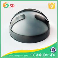 1 LED Black ABS mini garden solar lamp
