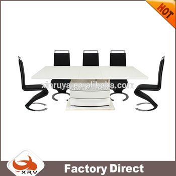 Furniture wood product expandable germany extension dining table