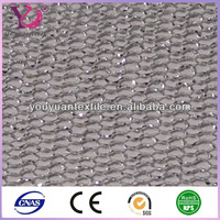 Hexagonal wire roller mosquito net mesh fabric silver thread