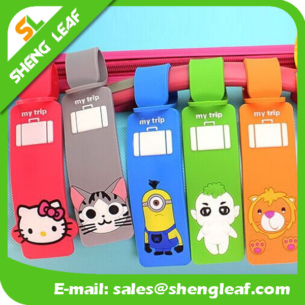hot design of plastic funny animal's shape luggage tag
