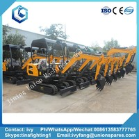 chinese small mini 1.5 ton 1.8 ton 2 ton crawler excavator prices