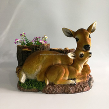 Polyresin outdoor garden deer statues