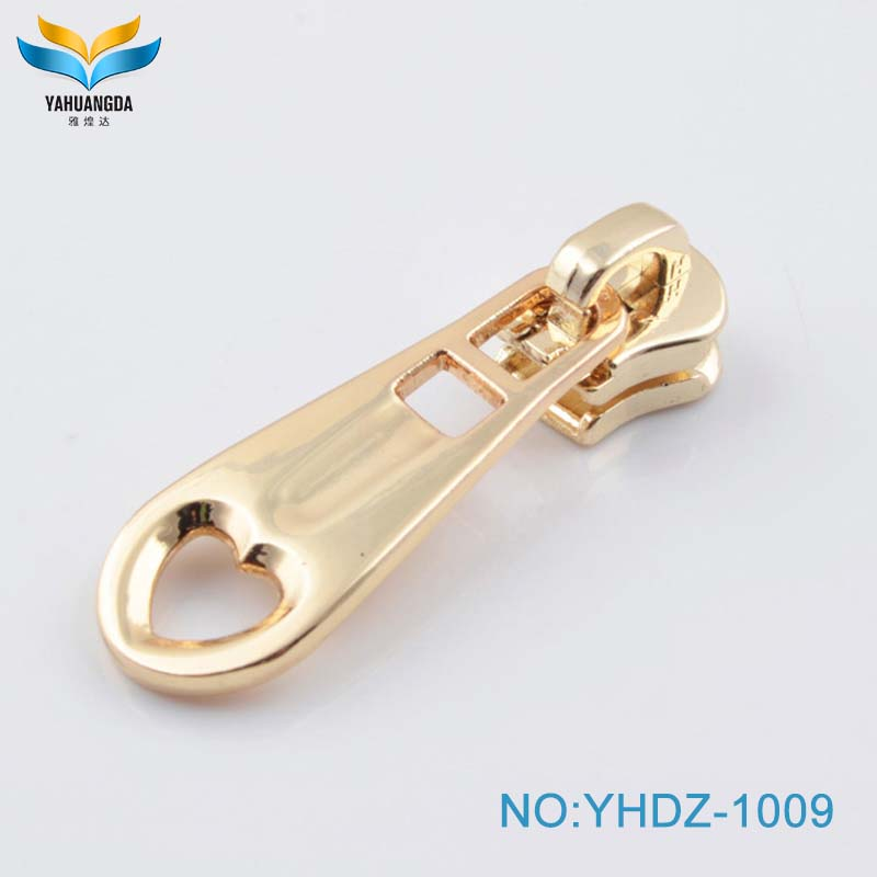 Factory  new product metal zipper slider and puller for bags/garments/jeans
