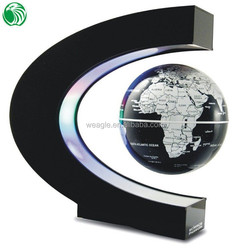 High end gift C shape base 3 inch floating globe unique floating golf ball