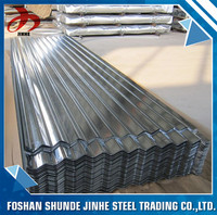 foshan zinc galvanized corrugated steel roof sheet for roofing material