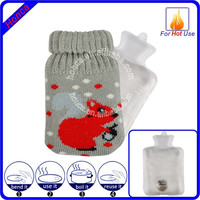 Mini Hand Warmer Gel Pack With Knitted Cover Winter Warmer
