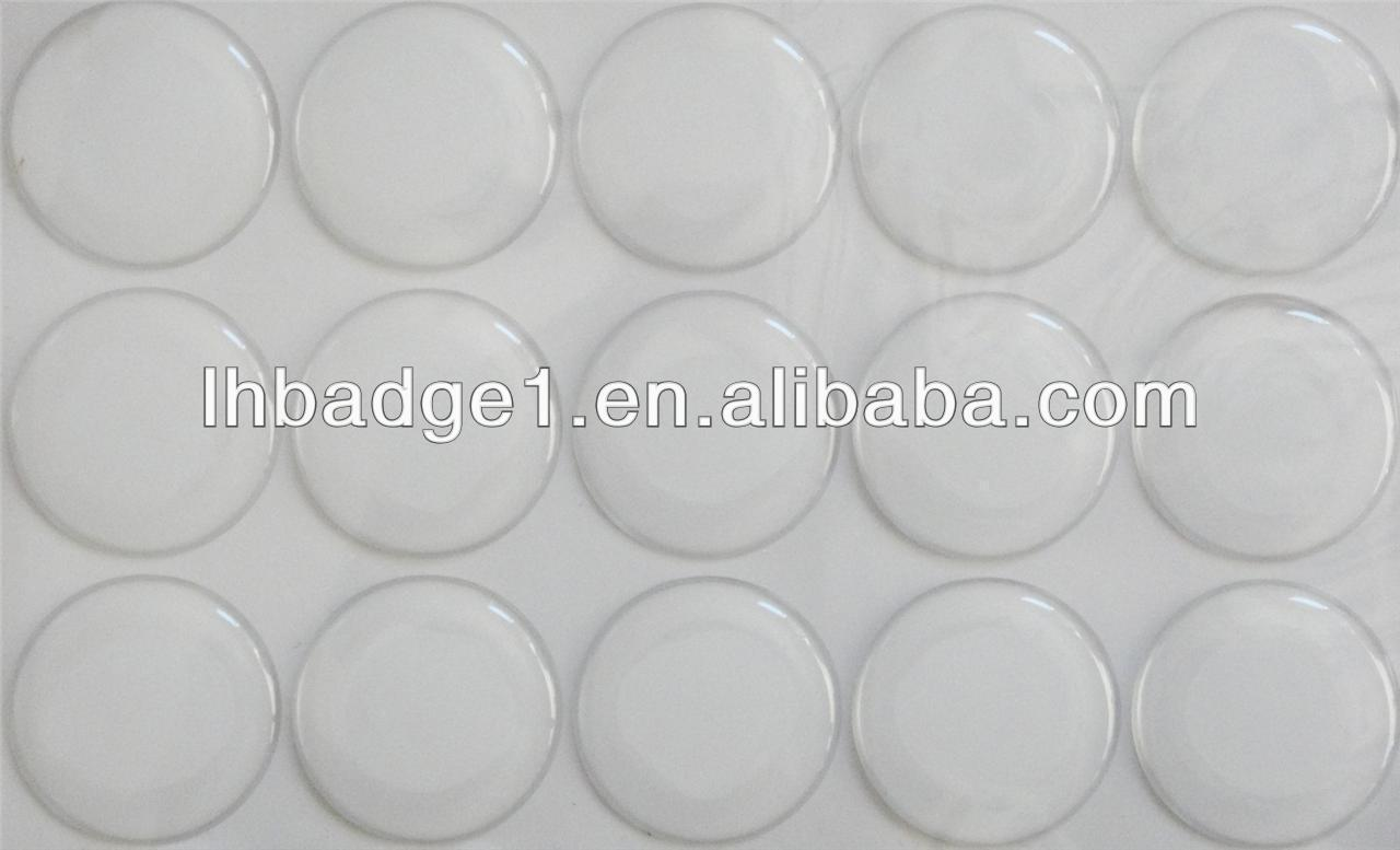 "1"" Clear Epoxy Adhesive Circles Bottle Cap Stickers"