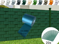 UND professional 650g PVC strip screen fence for privacy garden protection 19CM*35M /PVC Sichtschutzstreifen RAL6005 Green