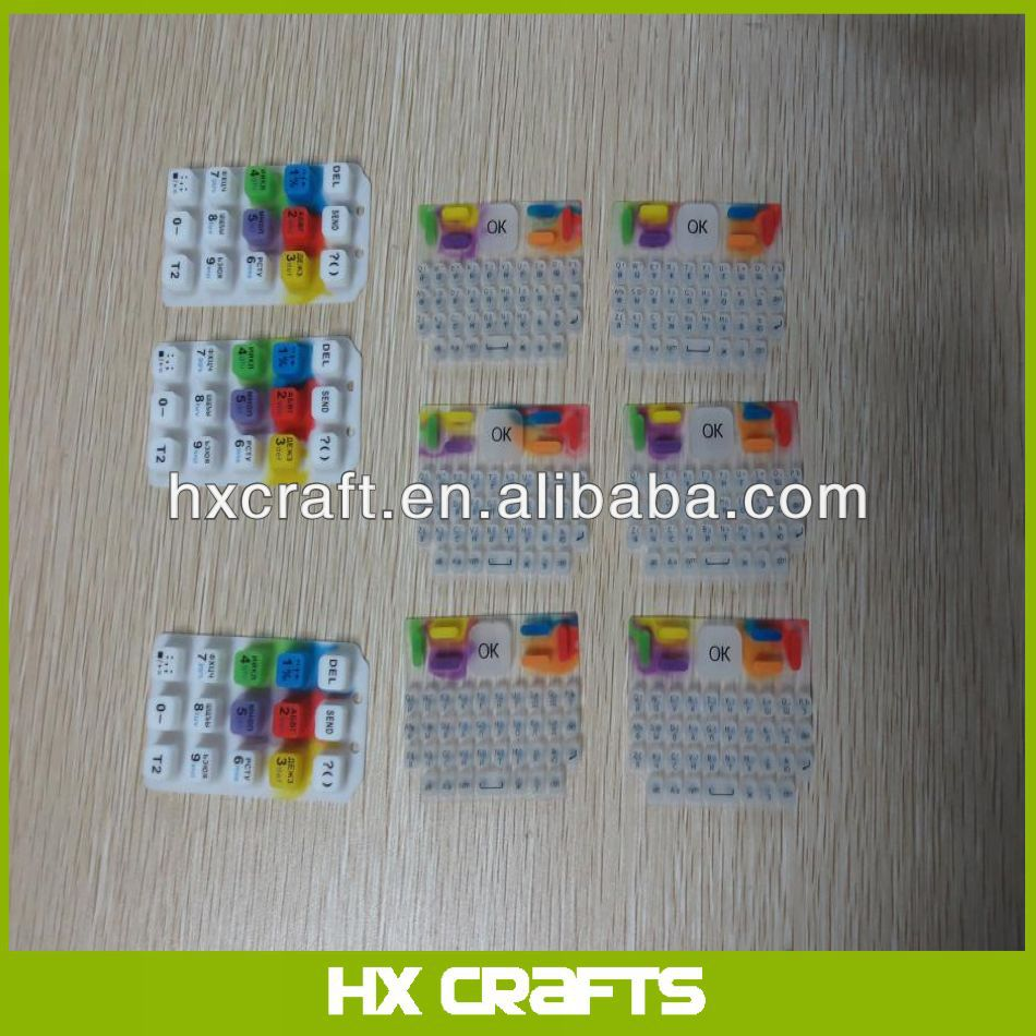 2014 High Precision Embossed Membrane Keypad Custom Embossed/Keypad/Mobile Phone Keypad Ic