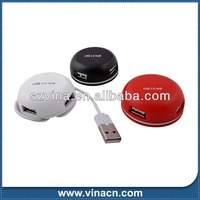 Round shape Hi Speed 4 port USB Hub made in China