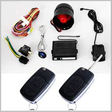 Easy install Immobilizer system one way alarm vehicle security car alarm with flip key for car with keyless entry function