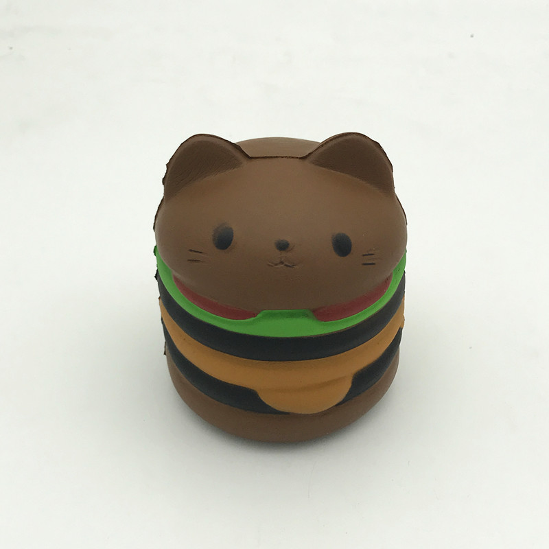2017 New Design Kawaii Cat Hamburger Slow Rising Squishy Toy