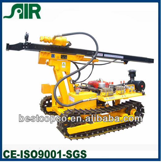 portable crawler mounted water well drilling rig HC725A