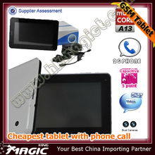 Top-selling cheap video call android tablet pc with 3g phone call function