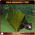 PE foil outdoor gold emergency shelter tent